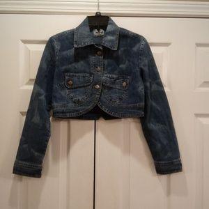 Jeans D crop jacket.
